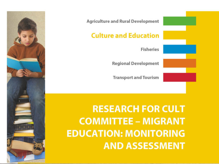 Migrant Education: Monitoring and Assessment – research for the European Parliament